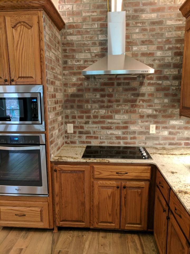 Cypress Point - Thin Brick Backsplash Application