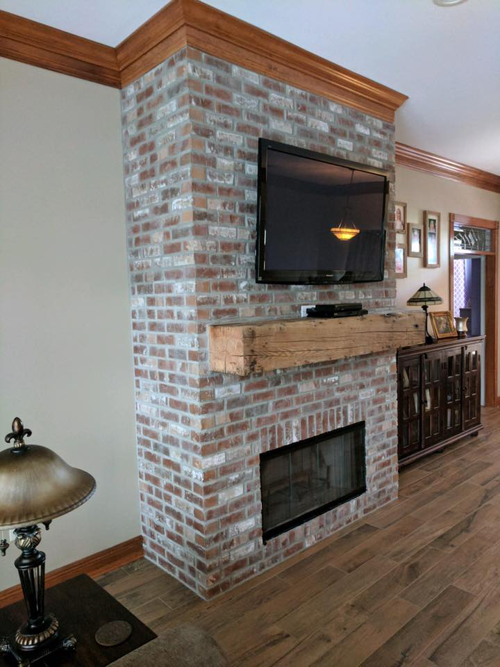 Cypress Point - Thin Brick Fireplace